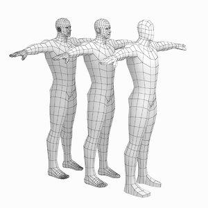 mesh hero male body 3D
