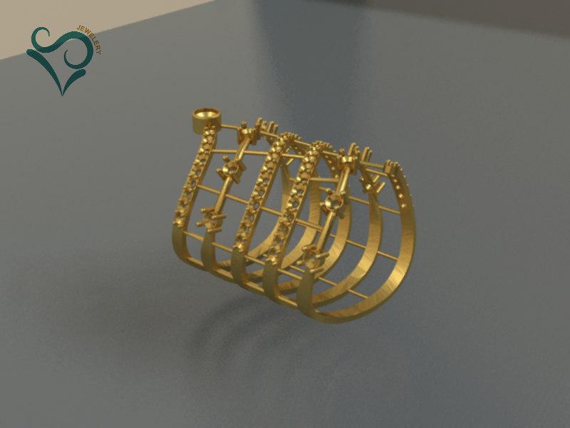 3D golden ring print modeler