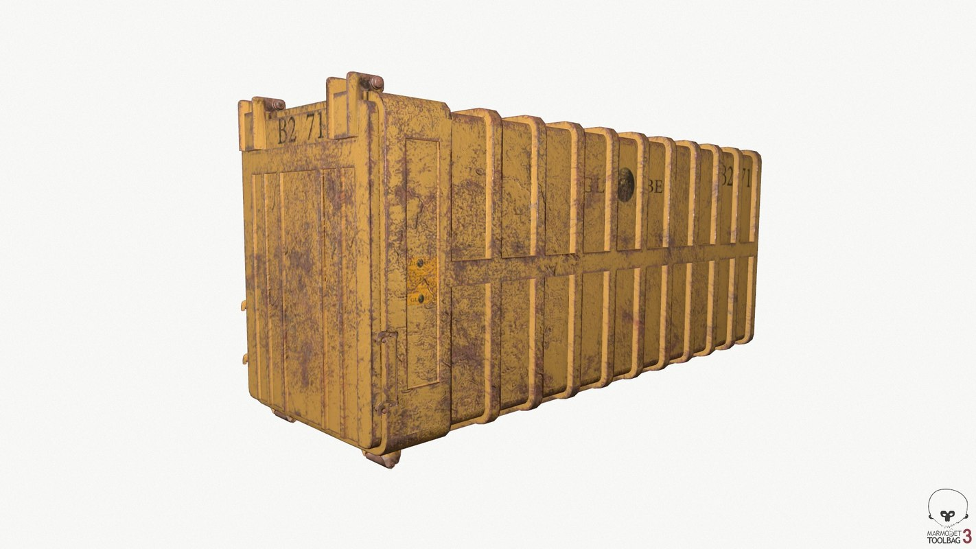 container rusty 3D model