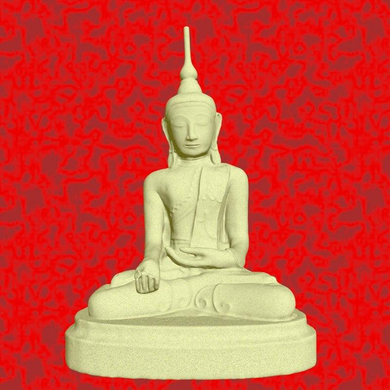 sculpture healer buddha 3D