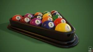 american pool balls 3D model