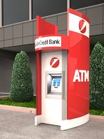 3D stand-alone atm kiosk exterior