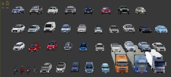40 cars 3D model