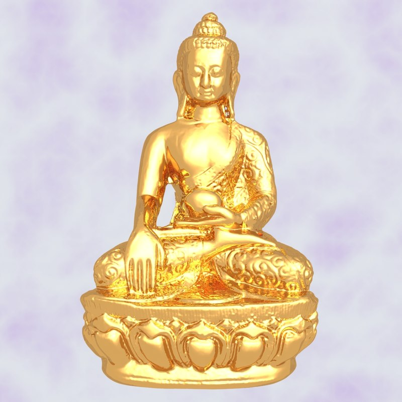 3D sculpture medicine buddha model