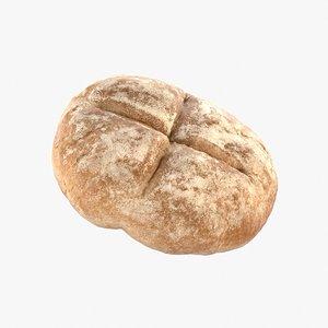 3D realistic bread roll