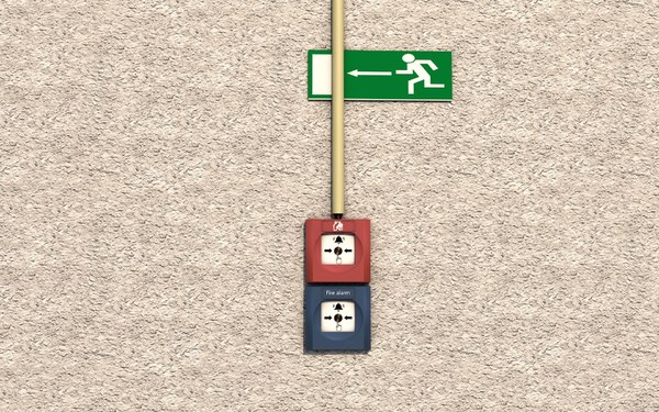 alarms emergency sign 3D model