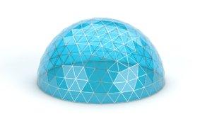 3D geodesic medium dome
