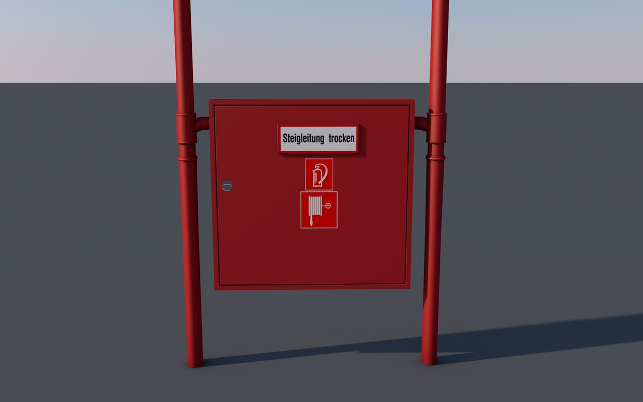 3D extinguisher shelf model