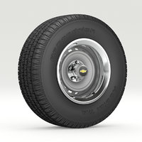 vintage wheel tire 8 3D