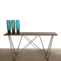 3D seared oak zola console