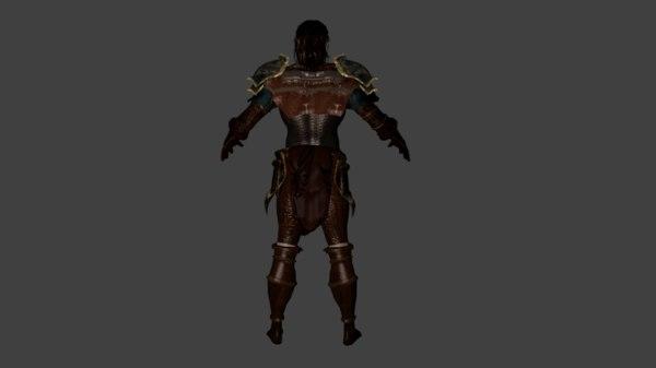 character rig 3D model