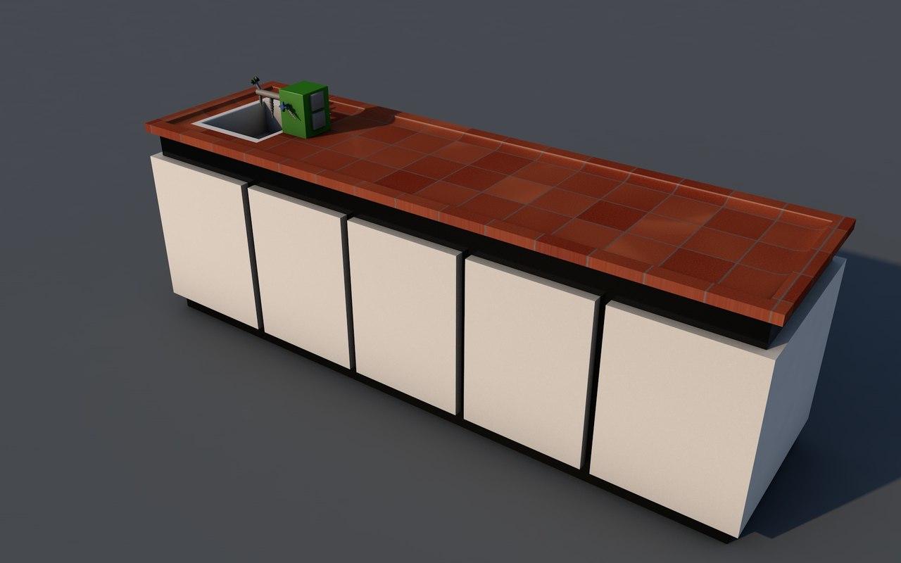 teachers desk 3D model