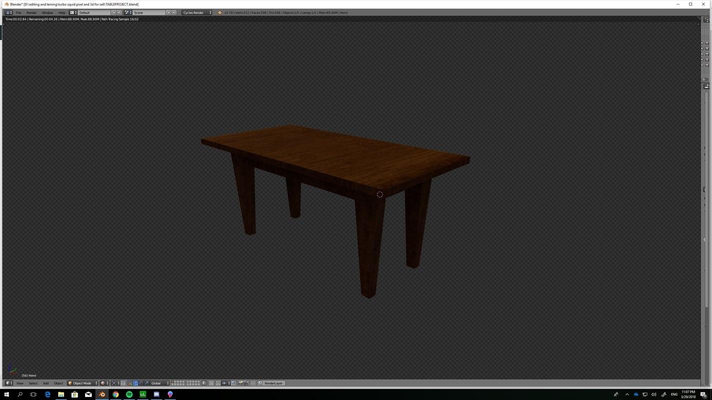 basic table 3D model