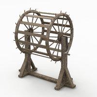 breaking wheel 3D model