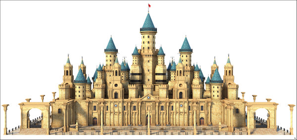 3D castle fantasy model