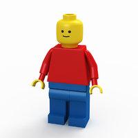 3D classic lego man