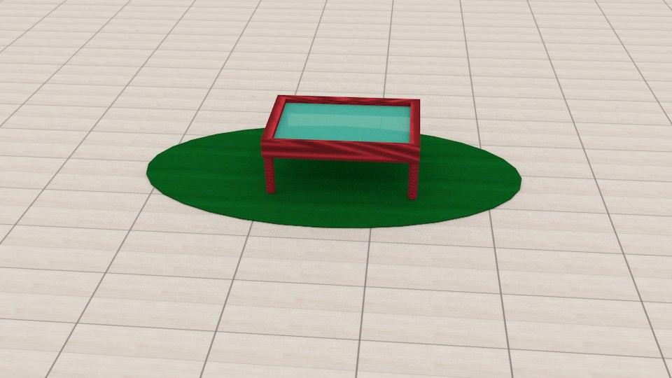 sala estar 3D model