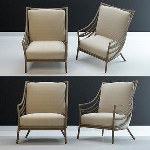 3D model crescent-lounge-chair