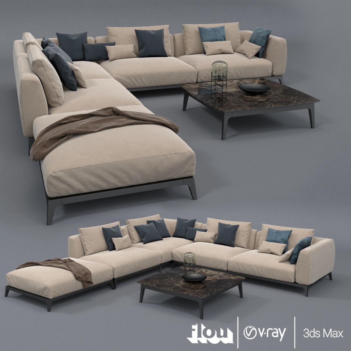 Incredible Flou Branding Olivier Sofa Set 3D Model Inzonedesignstudio Interior Chair Design Inzonedesignstudiocom