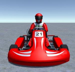 3D model - player kart 3
