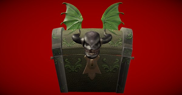 3D dragon chest