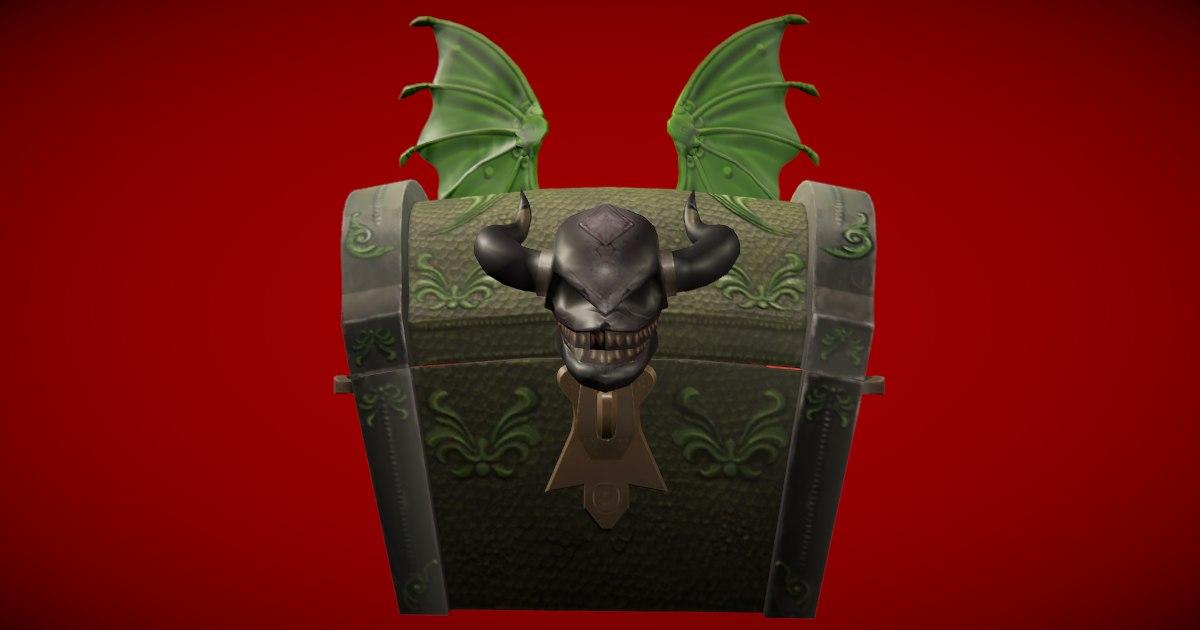3D dragon chest