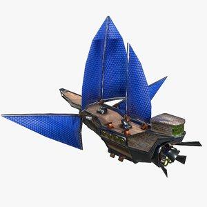 3D fantasy ship