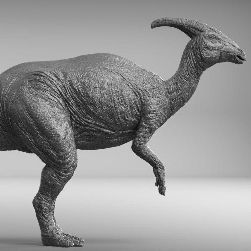 3D model parasaurolophus zbrush