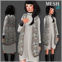 3D vest dress set model