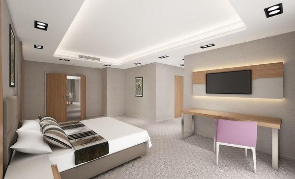 suite hotel room 3D model