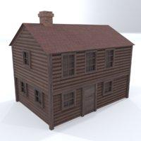 landscape wooden house 3D model