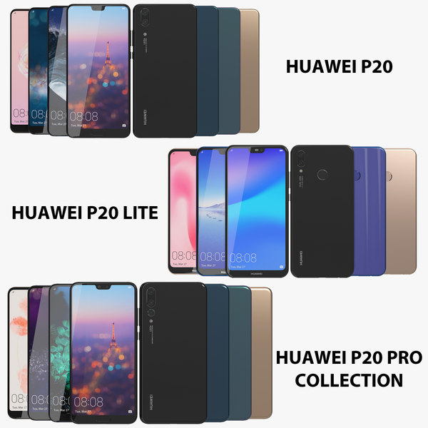 3D realistic huawei p20 pro
