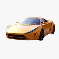 3D generic supercar