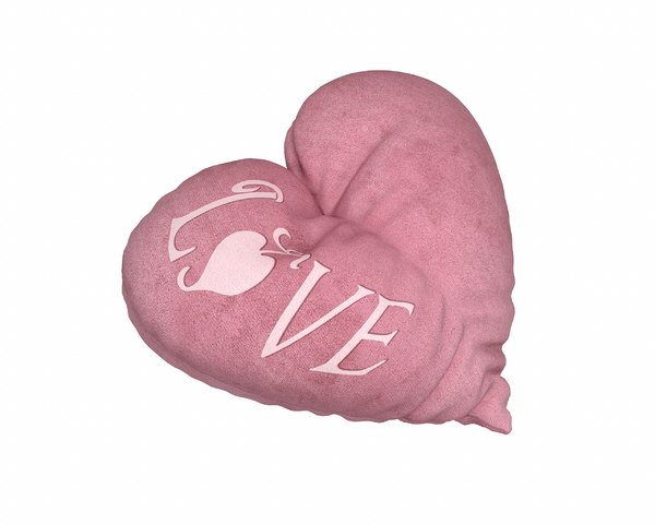 3D heart pillow - love model
