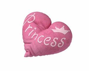 heart pillow - princess 3D model