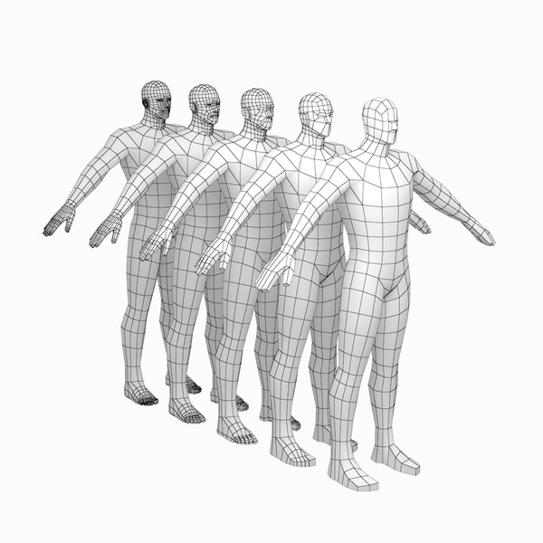 mesh hero male body 3D