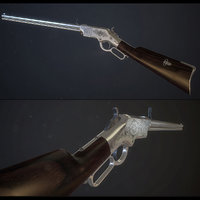 Classic Henry rifle PBR model
