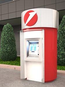 3D stand-alone atm kiosk exterior model