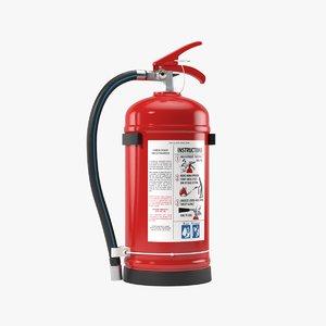 3D realistic extinguisher