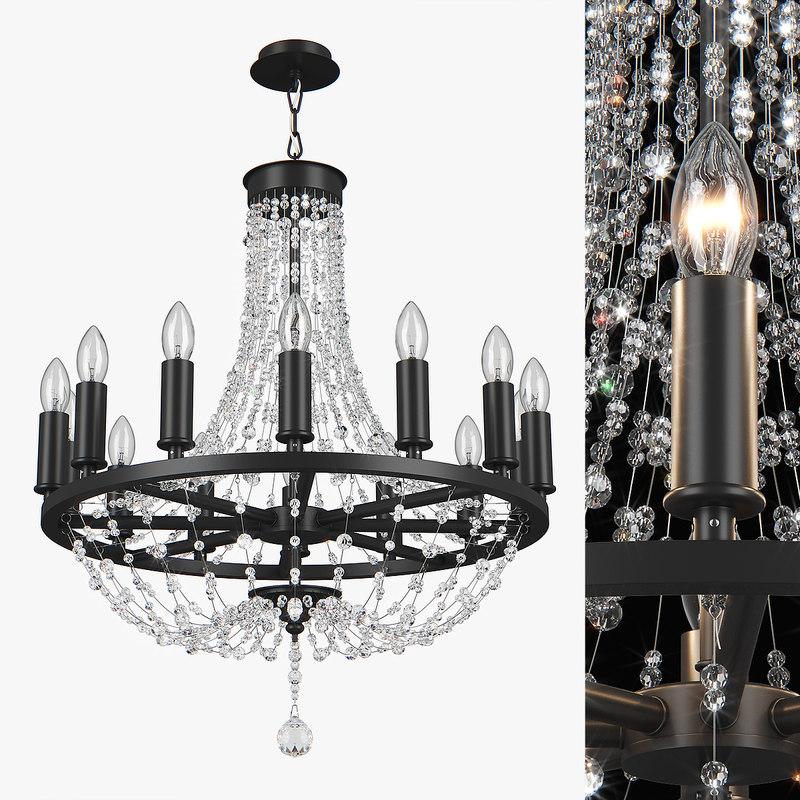 3D chandelier 744148 castello lightstar model
