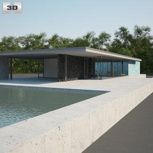 barcelona pavilion 3D