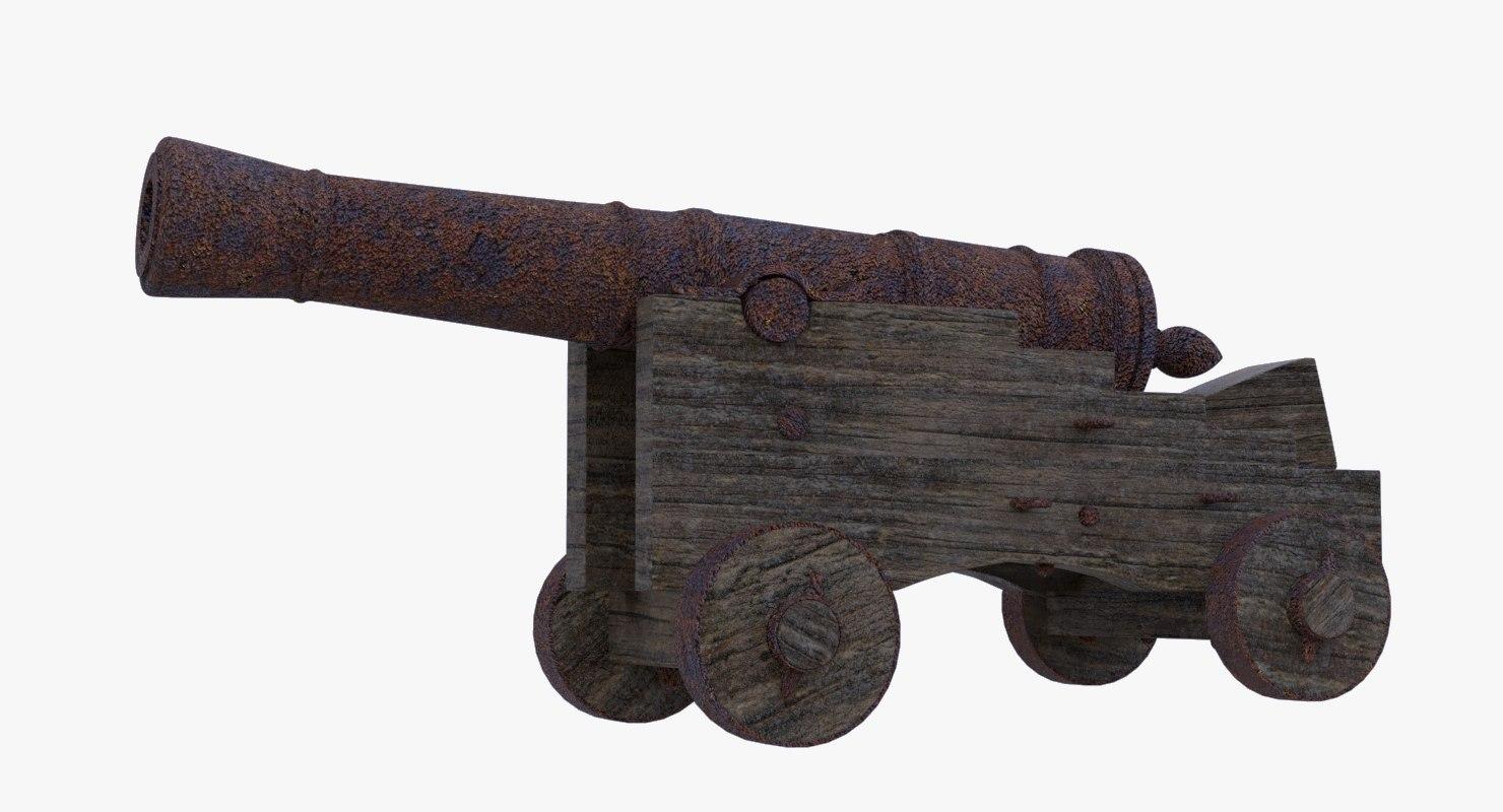 vintage cannon 3D model