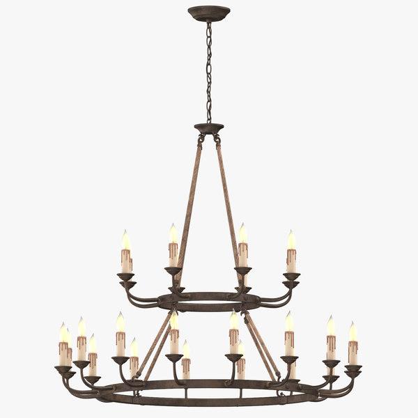 3D classical ceiling light