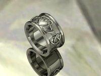 3D model kladah ring hand