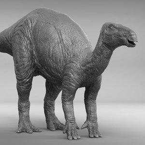 iguanodon zbrush 3D model