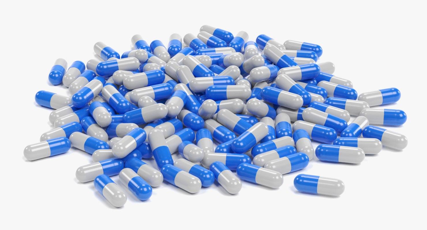 pile pills 3D model