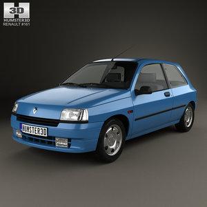 renault clio 1990 3D model