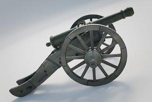 heavy cannon 3D model