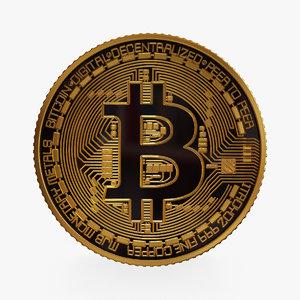 3D bitcoin gold model