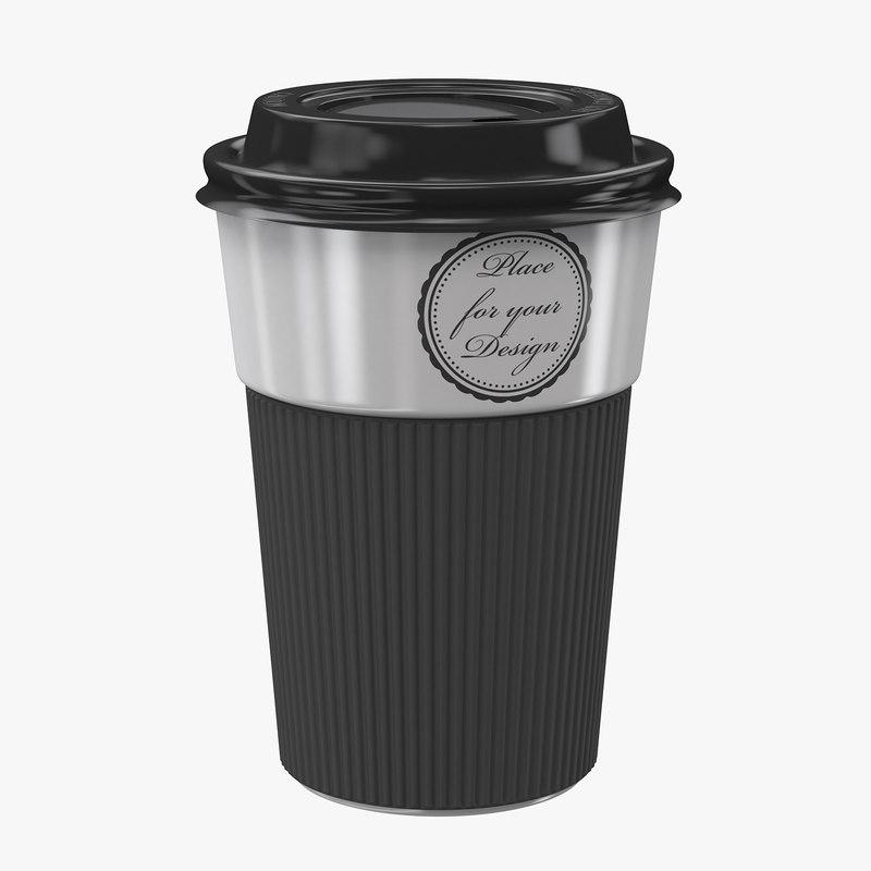 3D ceramic coffee cup